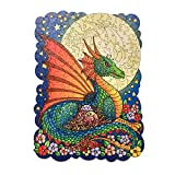 Animal Unique Shaped Creative Wooden Jigsaw Puzzle for Adults and Kids - Colorful Dragon Puzzle - 320Pieces