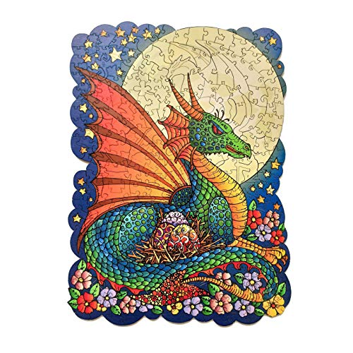 Wooden Jigsaw Puzzles,Unique Animal Shape Jigsaw Puzzles, Intellectual Game for Adults,6D Three-Dimensional Creative Wooden Puzzle