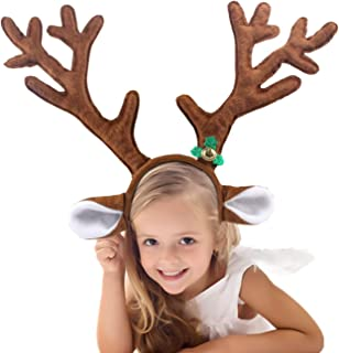 S SUNINESS Christmas Reindeer Antlers Headband - Kid Headwear for Holiday Party or Rudolph Santa Costumes Accessory