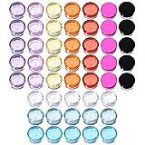 50 Piezas Bote de Plástico Tarro Vacío Contenedor de Cosmético con Tapa para Almacenamiento de Cremas Muestra Maquillaje, 5 g, 10 Colores