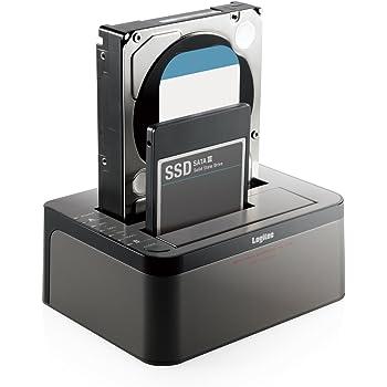 ロジテック HDDスタンド 2ベイ デュプリケーター HDD SSD対応 USB3.0 データバックアップ/消去ソフト無償ダウンロード可能 LGB-2BDPU3ES