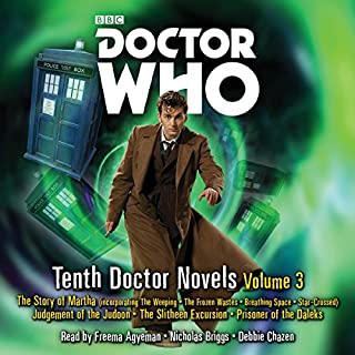 Doctor Who: Tenth Doctor Novels Volume 3     10th Doctor Novels              By:                                                                                                                                 Dan Abnett,                                                                                        Colin Brake,                                                                                        Simon Guerrier,                   and others                          Narrated by:                                                                                                                                 Debbie Chazen,                                                                                        Nicholas Briggs,                                                                                        Freema Agyeman                      Length: 23 hrs and 16 mins     21 ratings     Overall 4.8