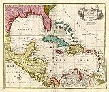 Antique Map-CARRIBEAN-AMERICA-FLORIDA-MEXICO-Elwe-1792