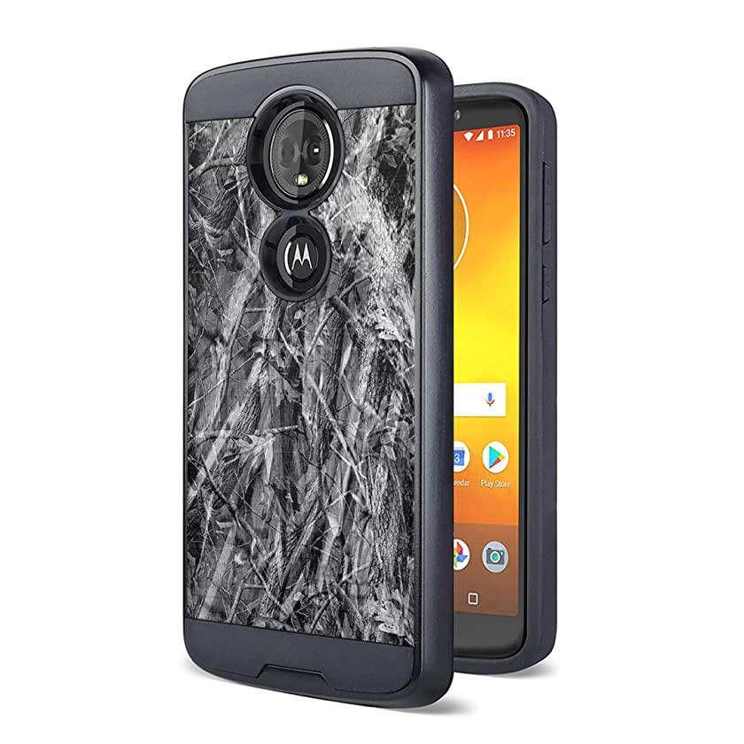 Moriko Case Compatible with Moto G7 Power, Moto G7 Supra [Drop Protection Fusion Dual Layer Slick Armor Case Black] for Motorola Moto G7 Power - (Grey Hunter)