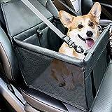 Plartree Asiento de Coche para Perros con Cinturón de Seguridad, Bolsa de Transporte para Perros y Gatos, Funda para Asiento de Coche Elevadora Transpirable para Perros Pequeños y Medianos
