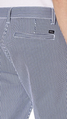 OBEY Men's Straggler Stripe Flooded Pant, Navy Multi, 28