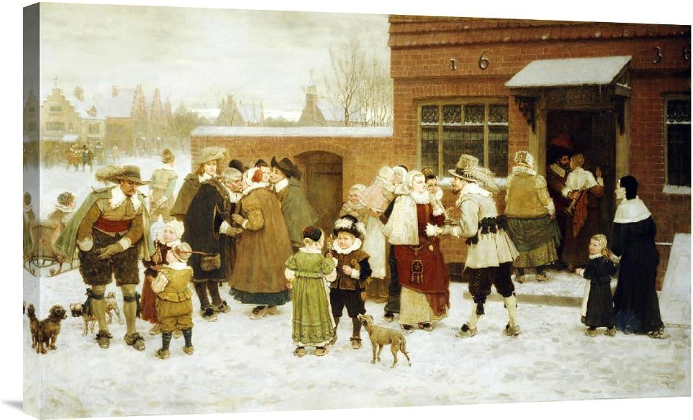 Global Galerie Budget gcs-265978–76,2–360,7 cm George Henry Boughton Jahren Tag Neue Amsterdam Galerie Wrap Giclée-Kunstdruck auf Leinwand Art Wand B01K1QOVOS | Billiger als der Preis