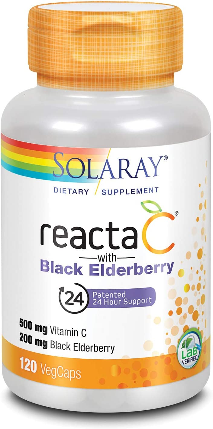 Solaray Reacta-C + Elderberry 500 VCapsules 120 Limited time cheap sale Count mg Popular products