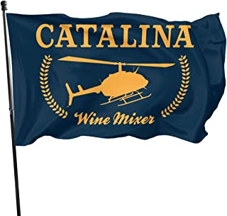 COMEUP Catalina Wine Mixer Flag 3x5 Ft,Grommets Tough Durable Fade Resistant for All Weather Outdoor