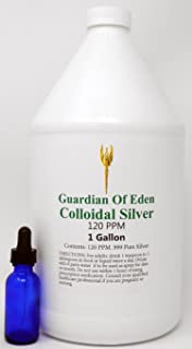 Lab Tested 120ppm Certified Pure Colloidal Silver by GOE (1 Gallon) with Free Dropper..