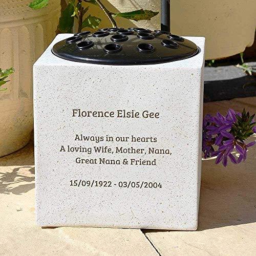 Fully Bespoke Personalised Customised Memorial Grave Side Flower Vase Pot