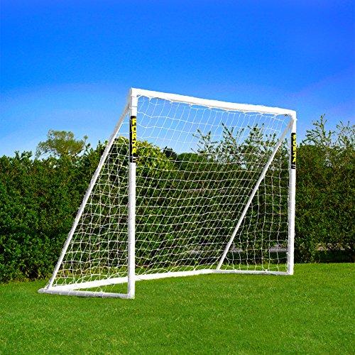 Net World Sports Forza Fußballtore - das Beste Tor bei jedem Wetter -7 Größen (2,4m x 1,8m mit Klicksystem)