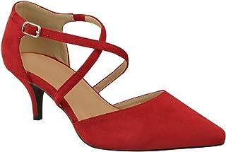 bb216fc5b981b Amazon.co.uk: Red - Court Shoes / Women's Shoes: Shoes & Bags