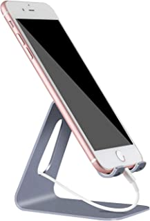Phone Stand for Desk, YOSHINE Desktop Cell Phone Holder, Updated Solid Aluminum Stand Holder Dock Cradle for iPhone 12 11 ...