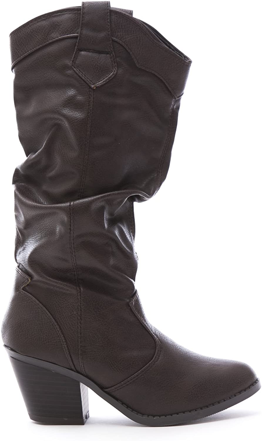 New Women's Western Cowboy Slouchy Knee High Boot