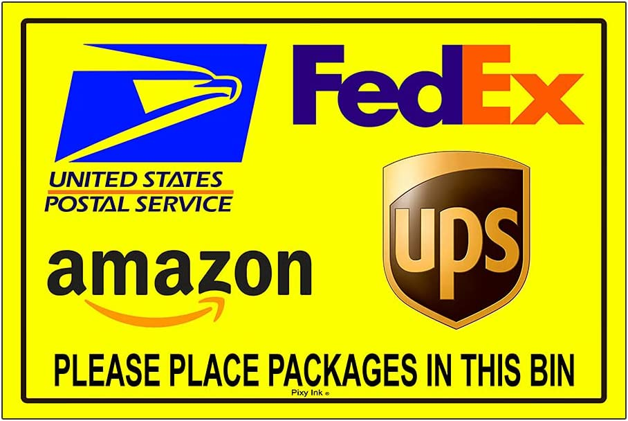 Delivery Max 60% OFF Instructions Please Place Packages 4 in Sign Decals Bin New item