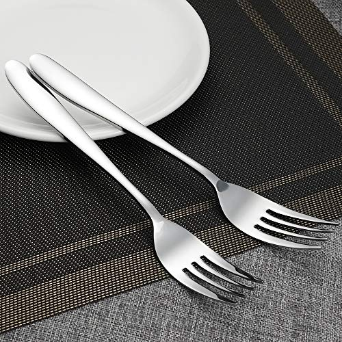 Kekow Serving Fork Set, 8-Piece Stainless Steel Buffet Serving Fork, 9.37-INCH