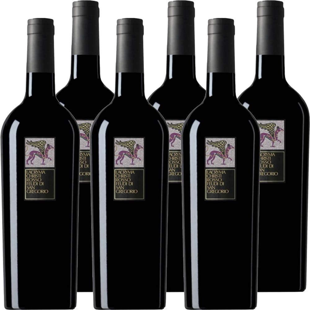 Feudi di san gregorio,lacryma christi rosso del vesuvio,confezione da 6 bottiglie da 75 cl 510VINOLACROSFEUDICONF6