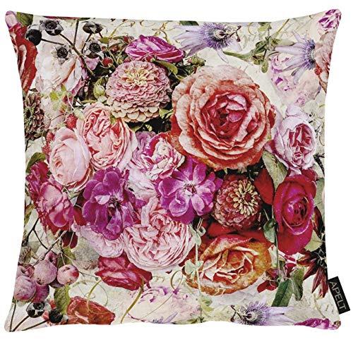Apelt Kissenhülle 1313 Herbstzeit Blütenallover l 40x40cm l Pink/Rose
