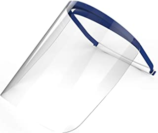 Full Face Shield with Visor | For Medical, Dental, or Personal Protection | Recommended for Single Use | Durable, Lightweight, and Comfortable | One Shield | REMOVE PROTECTIVE PLASTIC FILM BEFORE USE