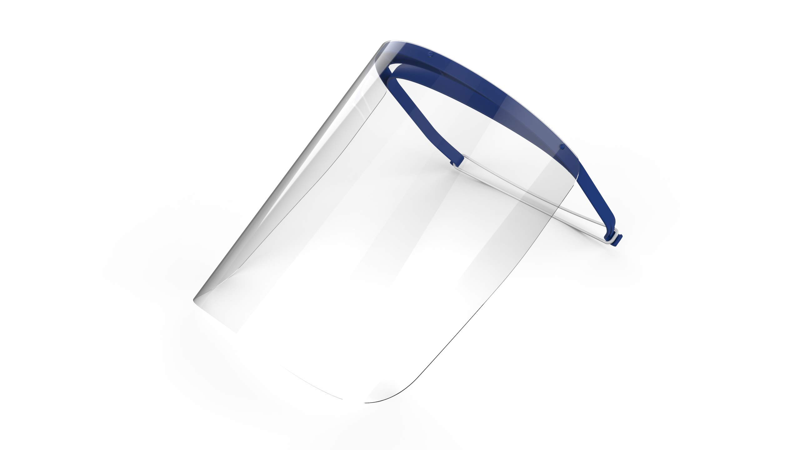 Full Face Shield with Visor   For Medical, Dental, or Personal Protection   Recommended for Single Use   Durable, Lightweight, and Comfortable   One Shield   REMOVE PROTECTIVE PLASTIC FILM BEFORE USE