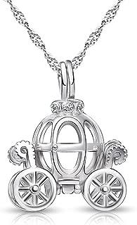 925 Sterling Silver Pumpkin Carriage Pendant Necklace,Bracelet