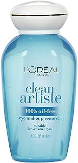 L'Oreal Clean Artiste Oil-Free Eye Makeup Remover, 4 oz