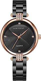 Andoer Women Classic Quartz Watch Ladies Fashion Wrist Watch with Solid Steel Band 3ATM Waterproof for Daily & Business Bo...
