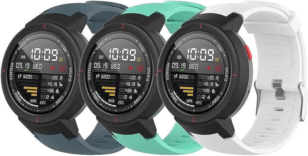 Gransho Correa de Reloj Recambios Correa Relojes Caucho Compatible con Amazfit Verge/Verge Lite - Silicona Correa Reloj con Hebilla