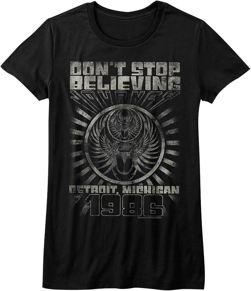 Journey Don't Stop Believing Detroit Album Guitar Cover Rock Band Junior T-Shirt