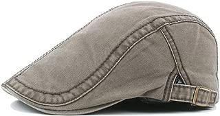 Fashion Hats Cotton Beret Cap Men's Women's Retro Casual Summer Winter Golf Newspaper Driving Tax Flat Cap Elegant Hats (Color : Green, Size : 56-58CM)