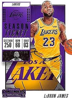 886f5d36a6a 2018-19 Panini Contenders Season Ticket  30 LeBron James Los Angeles Lakers  NBA Basketball