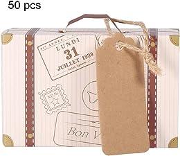 Romantique Mini Valise Portable Boîte en Carton De