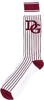 Dolce&Gabbana men knee high socks bordeaux