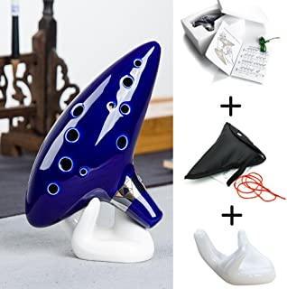 Legend Of Zelda Ocarina For Musical Instruments, 12 Hole Alto C Handcrafted Tuned Ocarina Antique Collectors Vintage, Masterpiece Collectible Ceramic Flute For Professional Performance And Beginner