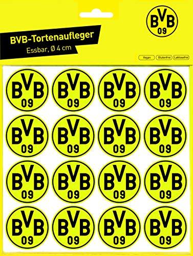 Essbarer Tortenaufleger & Muffinaufleger BVB 09 / 16 Stück 4 cm Ø