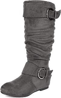Women's Knee High Wedge Heel Boots