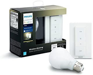 Philips Hue Smart Dimming Kit (Installation-Free, Exclusive for Philips Hue Lights, Compatible with Amazon Alexa, Apple HomeKit, and Google Assistant)