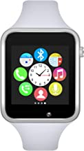 Padcod Bluetooth Smart Watch GSM Phone Watch with Camera for Android Smartphones (Silver+ White)