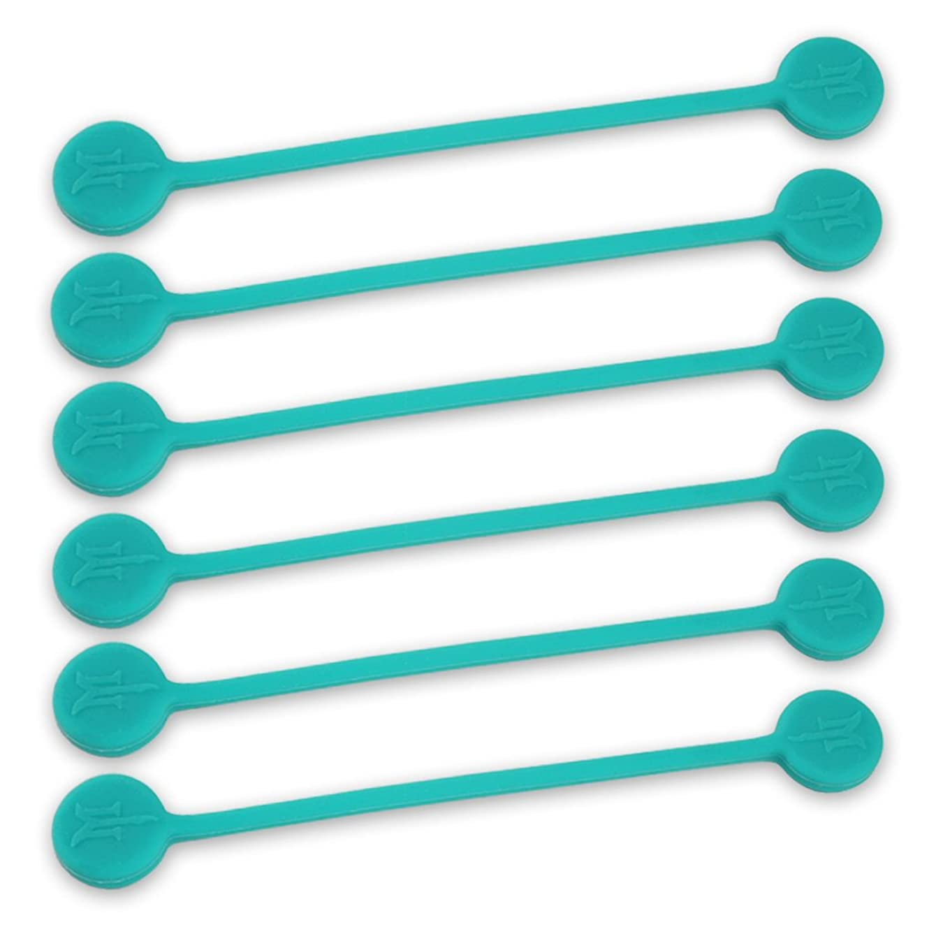 TwistieMag Strong Magnetic Twist Ties - The Tropical Ocean Blue Collection - Turquoise 6 Pack - Super Powerful Solution for Cable Management, Hanging & Holding Stuff, Fidgeting, Or Just for Fun!