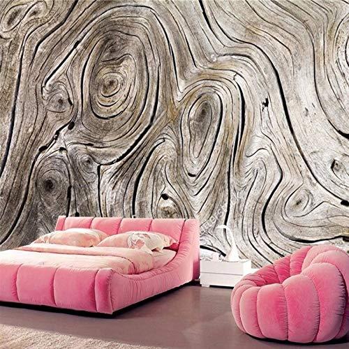 Mural de pared personalizado papel tapiz Retro grano de madera pintura de arte abstracto sala de estar sofá TV Fondo foto papel tapiz