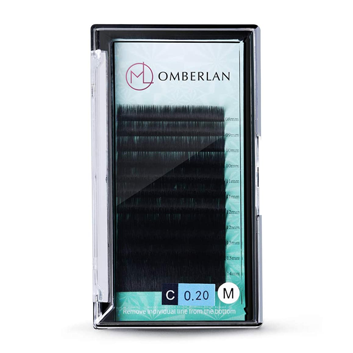 魅惑的な啓発する開発するOmberlanまつげエクステ0.2㎜厚Cカール 8-15㎜ ミックストレイ12まつげ、自然、ソフトで魅力的なプロ用まつげエクステ(Cカール 0.2㎜)