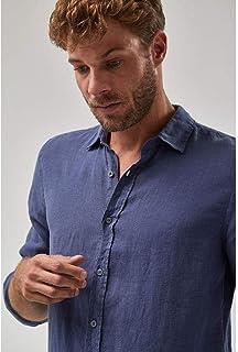 Camisa Linho - Indigo