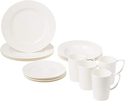 Safdie Premium Dinnerset Dinner set Premium Dinnerware Set, White (Pack of 16)