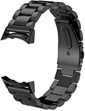 Gear S2 Bands V-Moro Solid Stainless Steel Metal Replacement Band with Adapters for Samsung Gear S2 Smart Watch (Metal Black)
