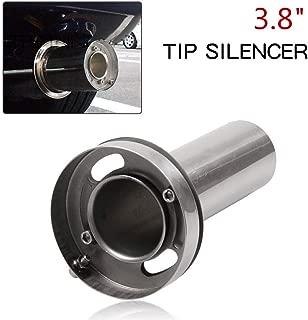 RYANSTAR Exhaust Muffler Adjustable Round Removable Silencer 3.8