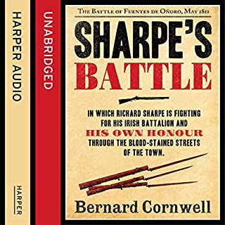 Sharpe's Battle: The Battle of Fuentes de Oñoro, May 1811     The Sharpe Series, Book 12              By:                                                                                                                                 Bernard Cornwell                               Narrated by:                                                                                                                                 Rupert Farley                      Length: 12 hrs and 36 mins     18 ratings     Overall 4.8