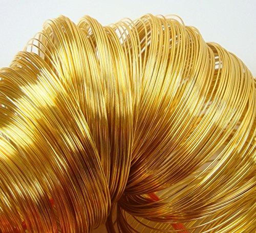 Perlin Armbänder Schmuckteile Stahl 50 Ringe Memory Wire Spiraldraht 6cm Gold AZM290A