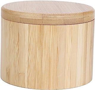 SOONHUA Pot D'assaisonnement Boîte de Rangement D'épices Pot de Sel en Bambou Porte-Épices Organisateur de Support avec Co...