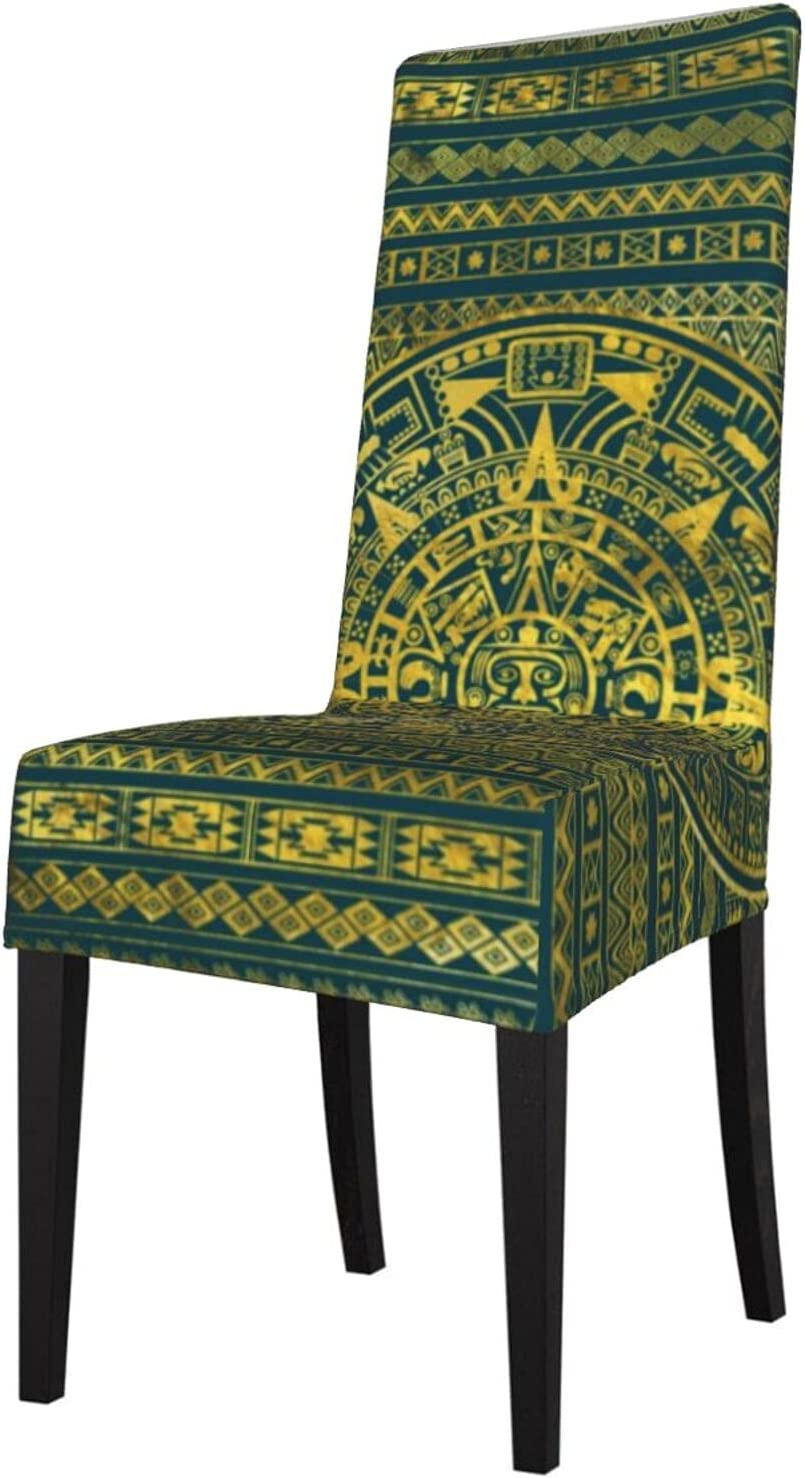 QUAVZI 2PCS Stretch Chair Covers for Gold Our lowest price shop most popular Room Dining Aztec Inca